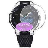 Vaxson - Pellicola protettiva in vetro temperato, compatibile con CASIO WSD-F30-WE, pellicola protettiva 9H, per smartwatch