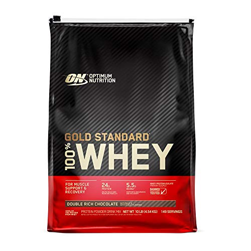 Optimum Nutrition Gold Standard 100% Whey Protein Powder Double Rich Chocolate 10 Pound Packaging May Vary