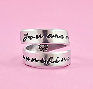 Motorcycle hand stamped ring