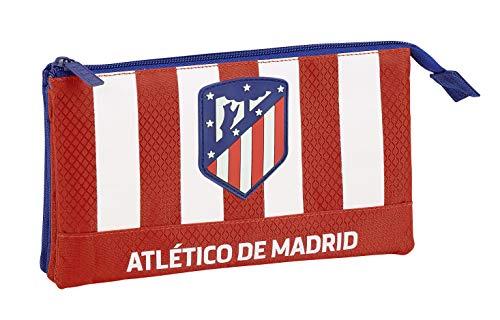 Club Atlético de Madrid Estuche, Niños, Roja, 22 cm