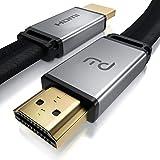 Primewire – 1 m - Cable Premium 8K HDMI 2.1 - Plano - 2K 4K 8K - Alta Velocidad - UHD II - 3D TV - eARC - HDR 10+ - 8K a 120Hz con DSC - HDTV 7680 x 4320 – Compatible BLU Ray PS4 PS5 Xbox Series S X