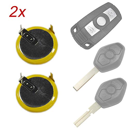 2X Batterie Akku LIR2025 VL2020 für Schlüssel Auto Funk Autoschlüssel passend für BMW E60 E81 E91 E92 X5 Z4 E39 E46 E52 E90