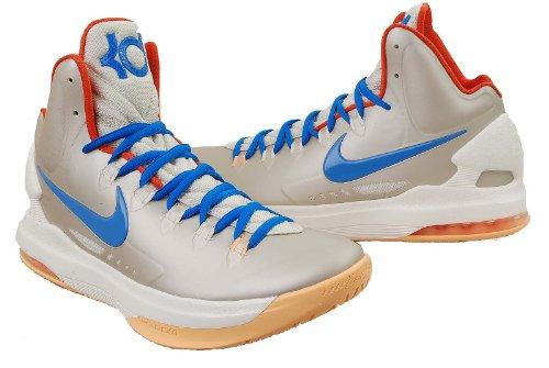 Nike Kd V - Zapatillas de baloncesto para hombre, (Abedul/Foto Azul-Sail-team Naranja - 554988 200), 41.5 EU