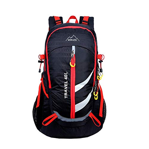 40L Sports Backpack Mountaineering Backpack Hiking Backpack Waterproof And Breathable Multifunctional Leisure Camping Backpack Best Holiday Gift,Black