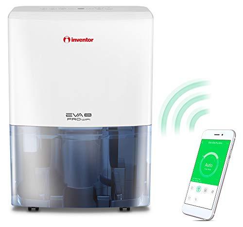 Inventor Eva ION PRO WiFi, Deumidificatore 16L/24h (Adatto fino a 50m2), WiFi, Ionizzatore, Filtro Hepa e Filtro ai Carboni Attivi, Deumidificazione Intelligente, Asciugabiancheria