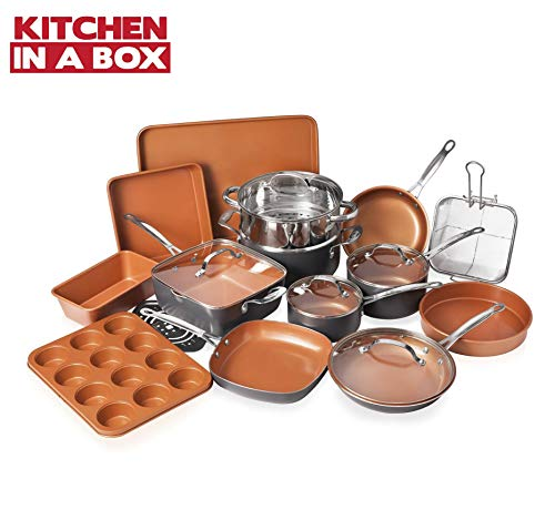 Gotham Steel Cookware + Bakeware Set with Nonstick...