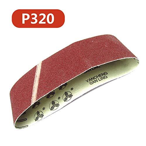 GPOKD schuurpapier - 80-320 Korrels 533x75mm Schuurbanden Schuurpapier Schuurbanden voor schuurmachine Power Rotary Tools Dremel Accessoires Schuurgereedschap, P320
