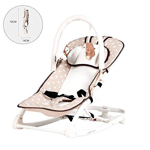 LYXCM Babywippen Schaukeln, Kinderkraft Schaukelwippe Mit Vibration Spielbogen Verstellbare Rückenlehne Klappbar