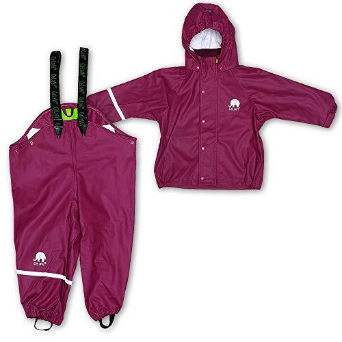 CeLaVi Baby - Mädchen CeLaVi zweiteiliger Regenanzug in vielen Farben Regenjacke,,per pack Violett (Purple 631),(Herstellergröße:70)