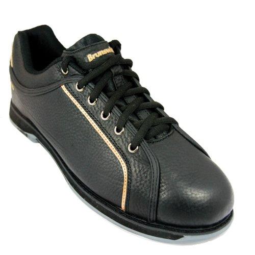 Brunswick CHARGER - Zapatos de bolera para hombre, color negro y dorado, color Negro, talla EU 40,5/US 8