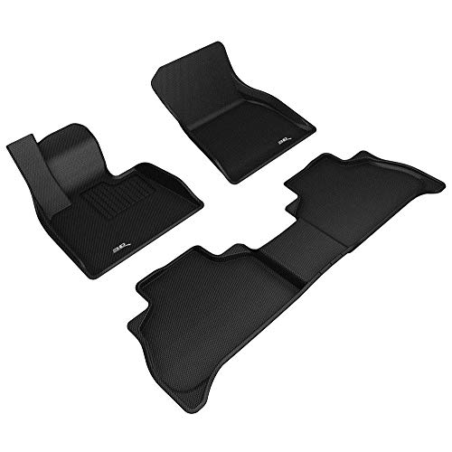 3D MAXpider All-Weather Floor Mats for BMW X5 (G05) 5-Seater 2019-2020 Custom Fit Car Floor Liners, Kagu Series (1st & 2nd Row, Black)