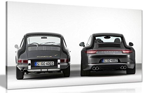 Leinwandbild, Motiv: Evolution des Porsche 911, Kunstdruck, A0 91x61cm (36x24in)