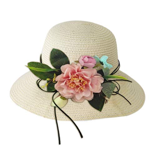 Samore Baby Kinder Sonnenhut Kleinkind Mädchen Sonnenschutz Strand Eimer Hut Verstellbarer Riemen Sommerhut 0-5 Jahre