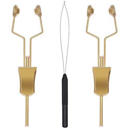 XFISHMAN Fly-Tying-Bobbin-Holder 2 Pack Fly Fishing Ceramic Bobbin with Bobbin Threader Holder Fly Tying Tools Set