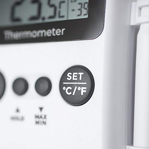 Multi-function digital catering thermometer with probe
