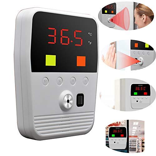 LQQZZZ Senza Contatto Termometro A Infrarossi, A Parete Termometro Digitale, con Febbre Allarme Chiaro Allarme Sonoro E 0,5 Secondi E Funzione Veloce Misurazione Senza Funzionamento Personale