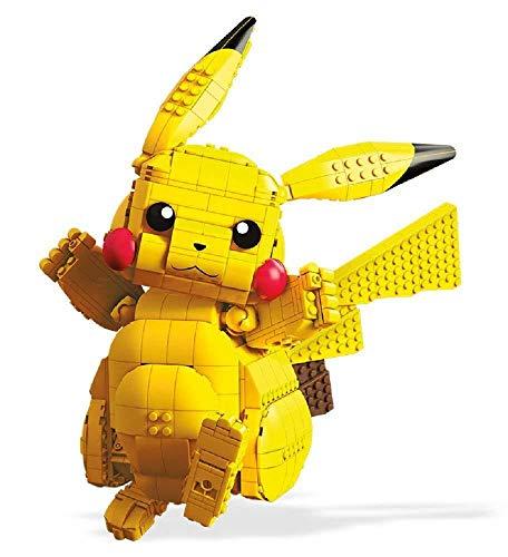 Mega Construx FVK81 - Pokemon Jumbo Pikatchu 30 cm Bauset mit 806 Bausteinen, Spielzeug ab 8 Jahren