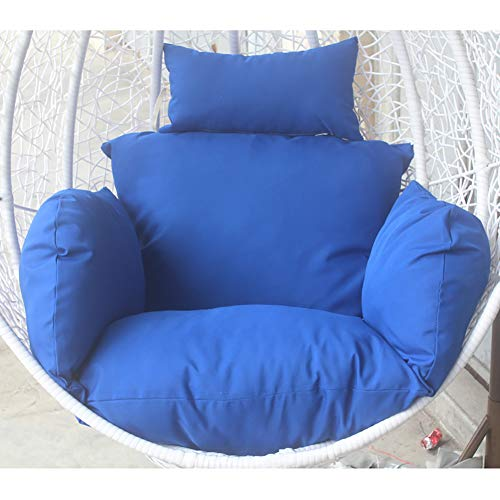 TOPYL Extra-Comfortable Soft Removable Swing Wicker Chair Cushion Hanging Basket Cradle Cushion,Hanging Egg Nest Seat Cushions Navy