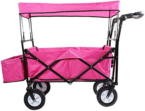 Per La Spesa Carrello Portaspesa Pieghevole Carrello Floreale Pieghevole Per Il Carrello Da Giardino Carrello Con Rimovibile Per Il Trasporto Da Giardino Carrello Pieghevole Portatile Carrello-rosa