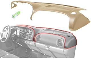 Dash Cover Overlay compatible with Dodge Full Size P/U 98-02 Saddle Tan/K9 Carmel