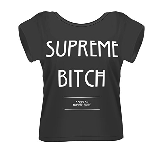 Plastic Head American Horror Story Supreme Bitch GFT - T-shirt - Col rigide - Manches courtes - Femme - Noir - Noir - Small (Taille fabricant: Small)