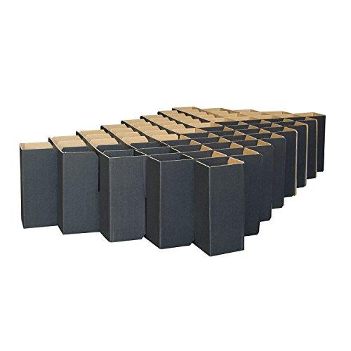 ROOM IN A BOX Bett 2.0 S/Schwarz: Klappbett aus Wellpappe 80 90 100 x 200 cm und Zwischengrößen. Auch als Gästebett. Lattenrost Nicht nötig.