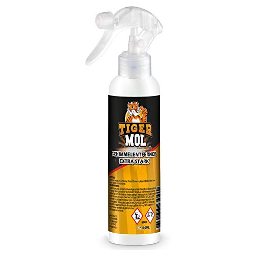 Tiger Mol - Schimmelentferner [Verbesserte Version 2020] - Ideal für Wand und Fugen in Küche & Bad | Entferner & Vernichter - Schimmel entfernen | Schimmelspray - Kein Gel
