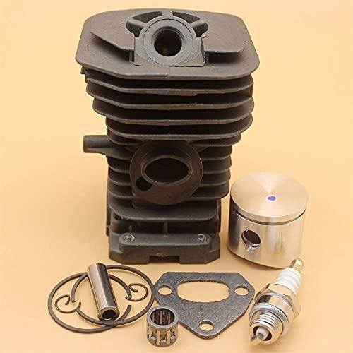 Kit de reconstrucción de motor de junta de rodamiento de anillo de pistón de cilindro compatible con HUSQVARNA 142141137136 repuestos de motosierra 38MM