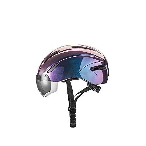 Casco de bicicleta de seguridad transpirable con gafas magnéticas desmontables para ciclismo...
