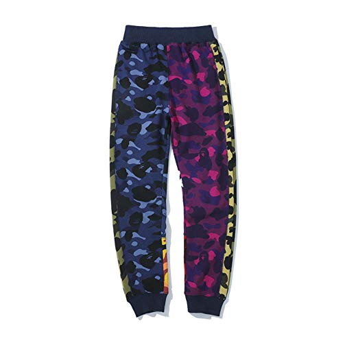 ZCVB Bape - Pantalones Deportivos Casuales para Hombre, Suaves, Transpirables, Largos, Deportivos, Perfectamente compatibles con Damas y Caballeros-Multicolor_L