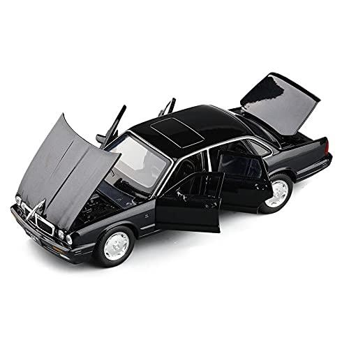 Auto modelo 1/32 Clásico Jaguar Xj6 Modelo Fundido A Presión Coche De Juguete De Aleación De Simulación De Luz De Sonido Juguetes De Retroceso Vehículo Para Regalos De Niños