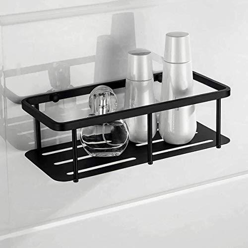 Estantes de baño Estante de cesta de esquina de almacenamiento cuadrado montado en la pared de acero inoxidable grueso, estante de ducha, estantes de carrito de ba?o, para inodoro, ba?o, cocina