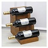 Jeseca Botellero Estante De Vino De Registro Creativo, Vino Colocado Horizontalmente, Tipo De Escalera De Estante De Vino, Decoración Simple De Estante De Vino (Size : 30x27x18cm)