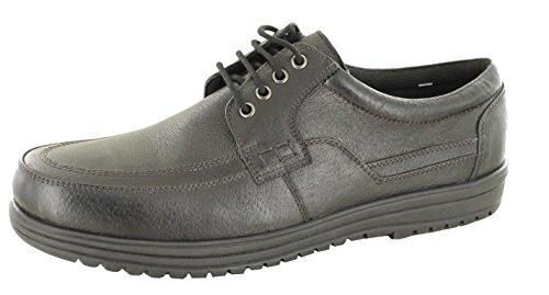 Dr Keller Jeffery Zapatos de Negro Real Funda de Piel Suave Lace Up Wide Fit para Hombre, Color Negro, Talla 43,5