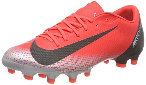 Nike Unisex-Erwachsene Vapor 12 Academy CR7 MG Fußballschuhe, Rot (BRT Crimson/Black/Chrome/Dk Grey 600), 42.5 EU