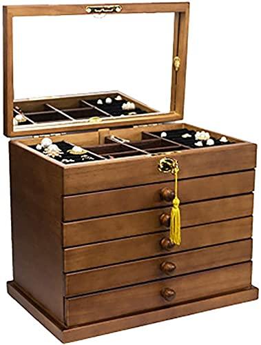 Oevina Caja de Reloj Gabinete de Reloj Mecedo Caja de joyer