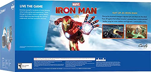 2021 Newest Playstation VR Marvel's Iron Man VR Bundle: VR Headset, Camera, 2 Move Motion Controllers, Marvel's Iron Man VR Game for PS4 PS5 + Batman + Hubxcel PS4 Controller Fast Charging Dock