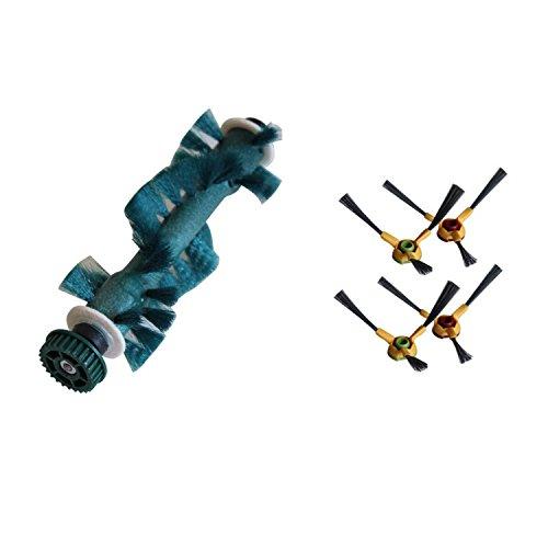 REYEE 4* spazzola laterale+1* Principale Agitatore Spazzola di Ricambio per Ecovacs Deebot Deeboo D73 D76 D77 Robot Aspirapolvere Parti