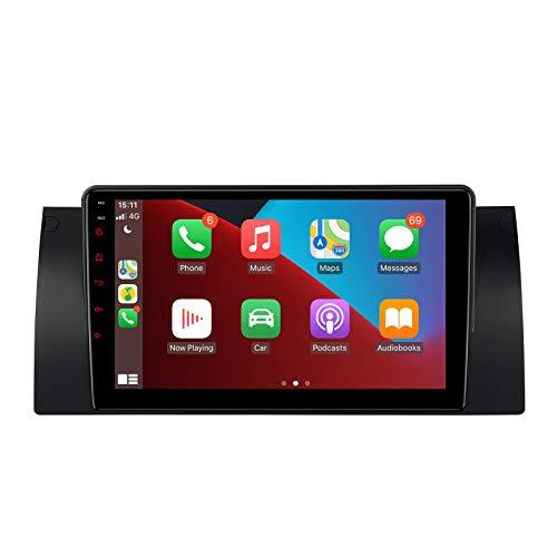 XTRONS 9'' Android 10 Autoradio Quad Core Prozessor 2 GB RAM 32 GB ROM Auto Multimedia Player mit IPS-Bildschirm Eingebauter DSP GPS WI-FI Bluetooth 5.0 für BMW X5 E53 7 Series E38