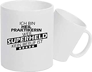 Shirtstown Taza de Cerámica, Taza, Super Héroe para Besten Profesión del Mundo, Colega, Job - Heilpraktikerin Superheld, 330 ml