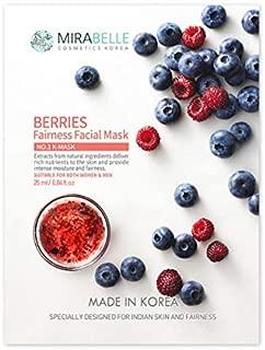 MIRABELLE COSMETICS KOREA Berries Fairness Facial Mask (Pack of 5)