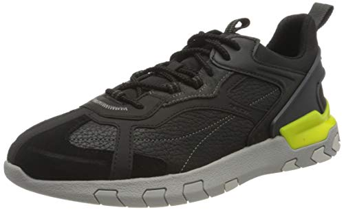 Geox U GRECALE B, Zapatillas Hombre, Anthracite Black, 42 EU