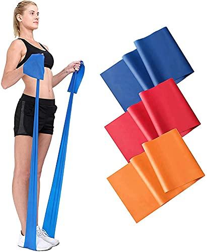 Bandas de fitness para yoga, 3 unidades, de látex natural, para entrenamiento muscular, gimnasia, yoga, unisex