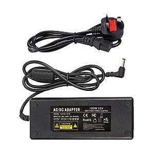 12V 10A Power Supply UK - COLM AC Adaptor 100-240V 50-60HZ DC 12V 120W Adapter Charger Transformer 5.5x2.5mm DC Output Jack for LED Strip Light LED Driver CCTV Security System