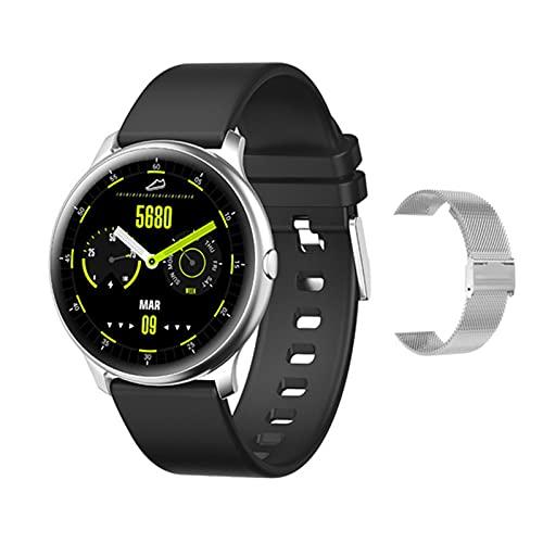 YDZ KW13 Smart Watch Monitor De Frecuencia Cardíaca para Hombres 1.2 Pulgadas AMOLED Pantalla Táctil Smartwatch IP68 Pulsera De Seguimiento De Fitness Impermeable,G