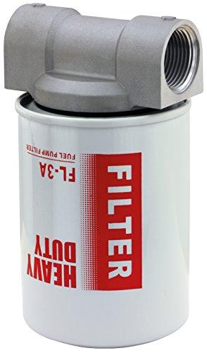 BLUREA Diesel-Filterkopf 2 x 1 IG, Ohne Dieselfilter (separat Hier bestellbar), Perfekter Kraftstofffilter für Tankanlage und Hof-Tankstelle