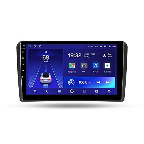 Android 10 Estéreo Automóvil GPS Car Radio Para Audi A3 2 2003-2013,Con Pantalla De 9'' Enlace Espejo Mandos De Volante Cámara Trasera 5GWIFI 3D Dinámica De Conducción En Tiempo Real,Cc2l,2+32G