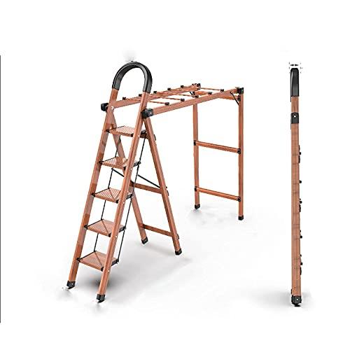 YANSJD Cocina Plegable de Acero, Escalera de Mano Resistente, Caja de Herramientas giratoria y Antideslizante, Plataforma para el hogar, Capacidad máxima de 150 kg