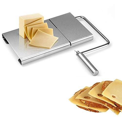 Acciaio INOX taglio fili–sostituibili in acciaio INOX filo da taglio per un approccio professionale per il formaggio.Si può anche essere facilmente eliminati. Un must-have gadget da cucina–adatto per tagliare formaggio, burro, prosciutto, fegato ...