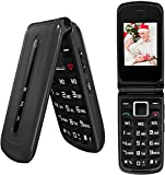Ushining Flip Phone Unlocked 3G Dual SIM Card SOS Button Big Button and Large Volume Easy to Use Flip Cell Phone for Seniors and Kids(Black)